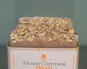 Honey Oatmeal All Natural Soap with gentle soothing oats