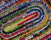 "Second Custom Order for Donna - Multi Colored Handmade Oval Rag Rug 24"" x 36"""