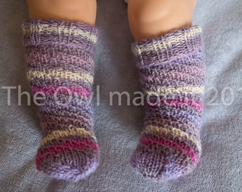 Hand knitted baby socks, toddler socks, baby girl socks, wool socks, kids socks, kids knit socks, kids fall, UK seller