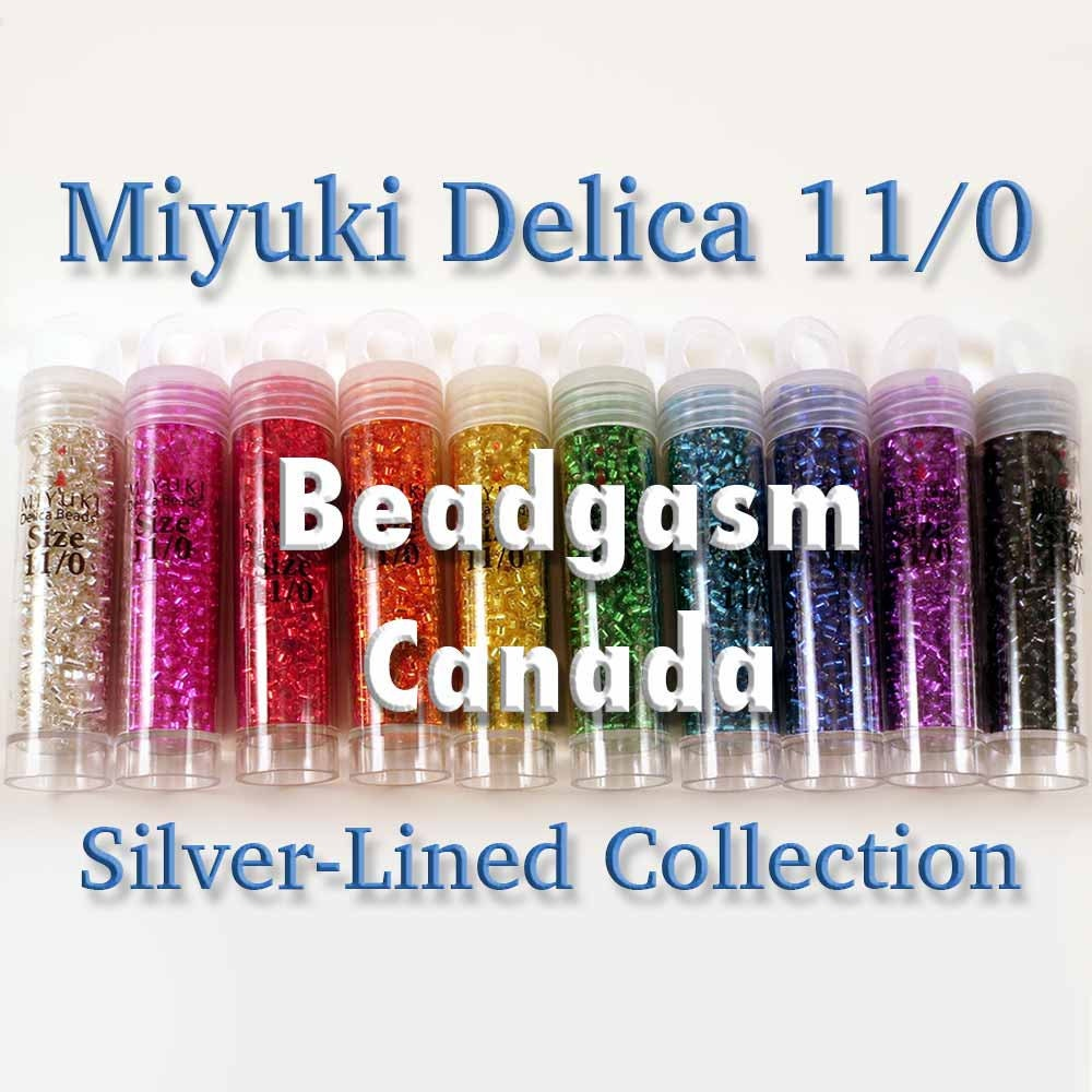1 Gram Beads: Silver-Lined Miyuki Delica Bead Collection 52 Grams Size 11/0