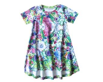 Floral Baby Dress - Girls Floral Dress - Girls Dress - Girls Dresses - Organic Baby Dress - Organic Kids Clothes - Kids Dress - Kids Dresses