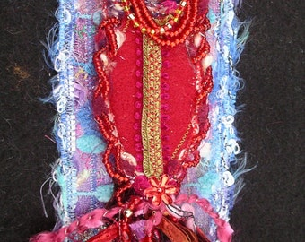 Fabric Art Book Mark/ Gift For a reader
