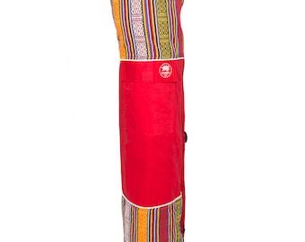 Yoga Mat Bag in Boudha Red