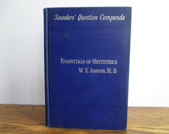 Essentials of Obstetrics Book from 1911