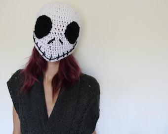 Crochet Jack Skeleton hat, Halloween hat