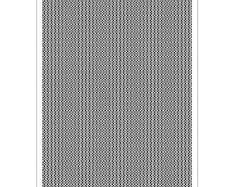 Pergamano Multi Grid 19 DIagonal Grid - Stainless Steel Parchment Craft Stencil - Vellum Perforating and Embossing - Card Making Tool.