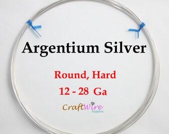 Argentium Silver Wire, Round, Half Hard, 12 14 16 18 19 20 21 22 24 26 28 Gauge, Jewelry Making Wire, Tarnish Resistant