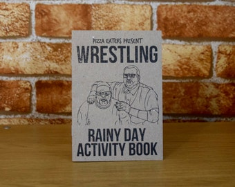Wrestling Rainy Day Colouring & Activity Book