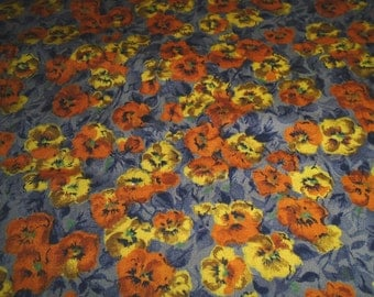 True Vintage Fabric, Poppies Print - Yardage