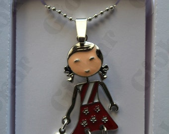 Red doll necklace