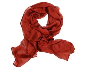 Soft and Light Red chiffon scarf / Wrap