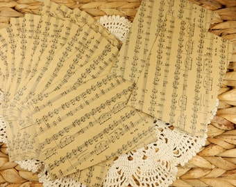Music Envelopes, Music Sheet Paper, Wedding Envelopes, Scrapbooking Paper