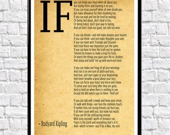 IF Poem Art Print IF Poem by Rudyard Kipling Art Print (4 colors and 7 sizes available)