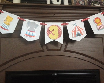 Circus Carnival Birthday Party Mini Banner & Mini circus tent | Etsy