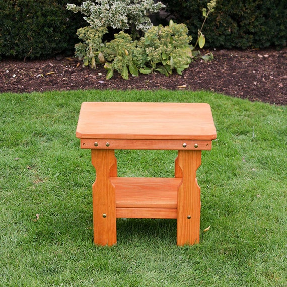 Amish heavy duty pressure treated end table