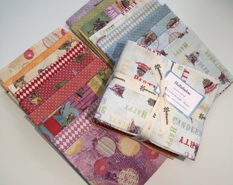 18 Fat Quarters-Hullabaloo by Iron Orchid- Fat Quarter Bundle-18 pc. including FREE Pattern