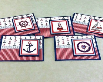 Nautical Notecards, Nautical Greeting Cards, Any Occasion Cards, Blank Notecard, Handmade Notecard, Greeting Card, Just Because Card, Box
