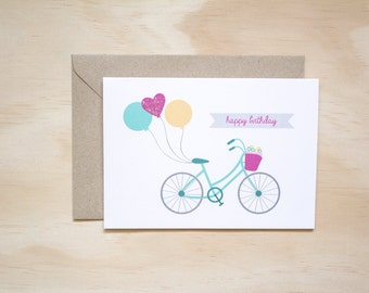 Bike Happy Birthday Greeting Card