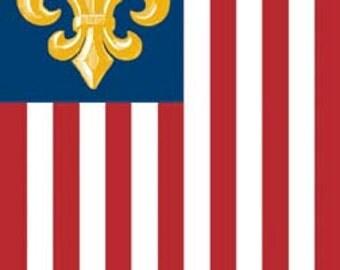 Fleur de lis American Flag
