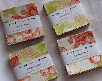 4 Somerset Mini Charm Packs from Moda by Fig Tree & Co.