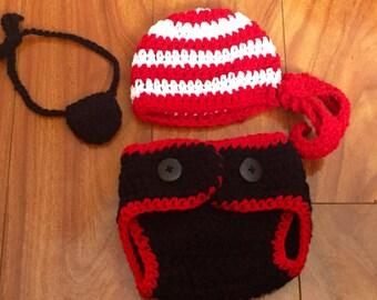Crochet Baby Pirate Costume