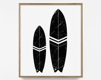 surfboard, printable, print, surfing design, surf life, digital design, ocean illustration, surf design, popular beach boys, summer design