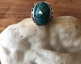 GREEN GIANT - Emerald and Sterling Silver Statement Ring