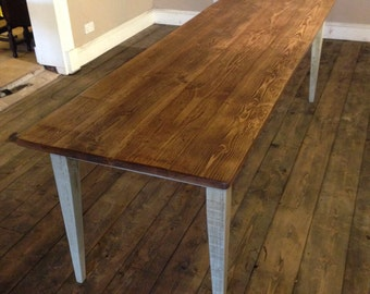 Dining Table Wooden Reclaim Tapered Leg