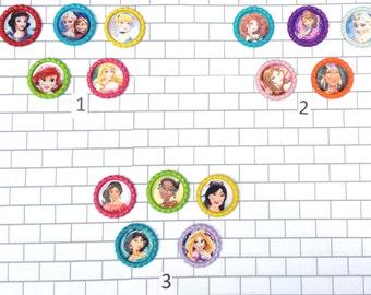 Finished Princess Bottle Caps, Disney Princess Bottle Cap Images