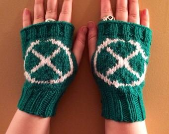 Rogue XMEN inspired Fandom Fingerless Gloves