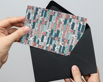Winter Village 5x7 inch Folded Christmas Greeting Card - GC1138