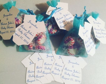 Baby Shower Favors with Onesie Tags