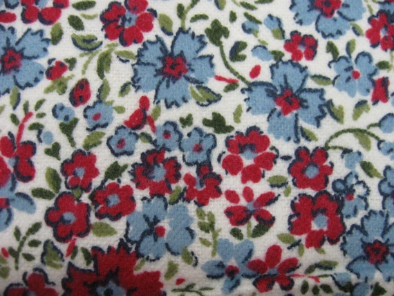 Flannel fabric by the yard tiny blue red by for Children s flannel fabric by the yard