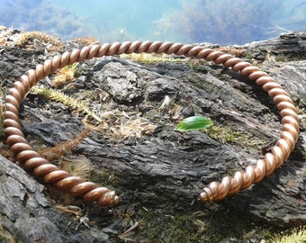 Copper torques. Celtic style handmade necklace