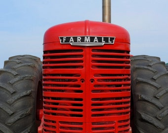 Farmall, Red Tractor Photo, Farmhouse Decor, Kids Wall Art, Rustic Decor, Tractor Decor, Fine Art Photography, Home Decor, FREE SHIPPING