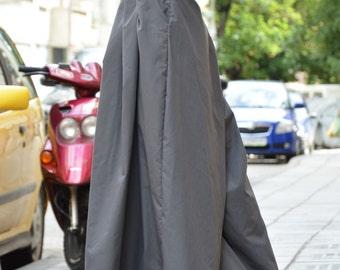Loose Wide Leg Pants, Cotton Pants, Womens Harem Pants, Extravagant Grey Trousers, Plus Size Pants By SSDfashion
