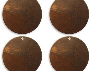 Metal Stamping Blanks Circle Blanks Natural Brass 25mm Made in USA Stamping Supplies 4 pieces 25 gauge