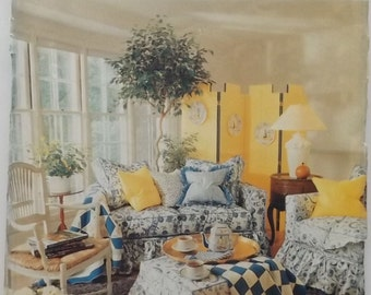 Butterick 4592 . Better Homes and Gardens . Furniture Cover pattern & directions.