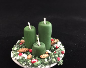 Dollhouse Miniature 1:12th Scale Holiday candles