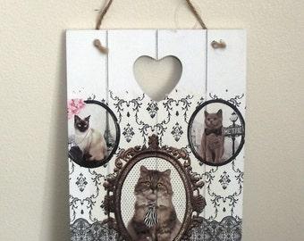 Cat design Wall Hanging Plaque