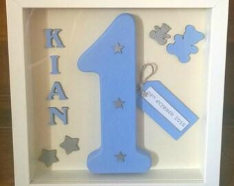 Personalised Birthday Box Frames