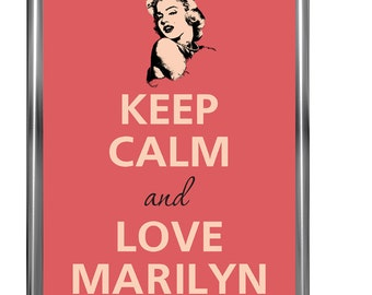 Keep Calm and love Marilyn - Art Print - Keep Calm Art -  Prints - Posters - Motivational quotes - Keep Calm Poster