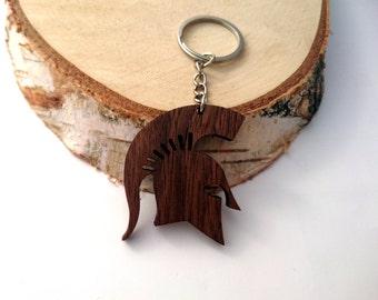 Wooden Spartan HELMET Keychain, Spartan warrior Keychain, Spartan  Keychain, Walnut Wood, Friendly Green materials