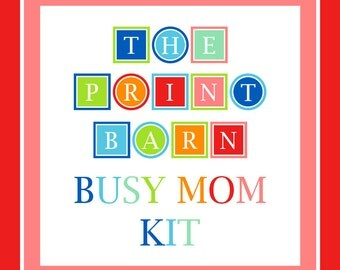 BUSY MOM KIT, planner, printable, family, budget planner, to do list, calendar, home, binder, chore, meal, cleaning, Full Size, 8.5 x 11