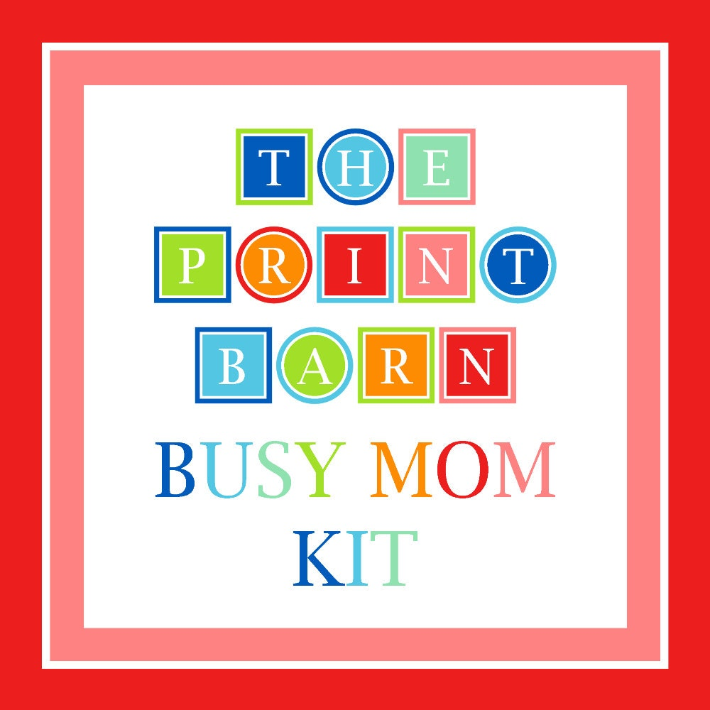 BUSY MOM KIT Planner Printable Family Budget Planner To