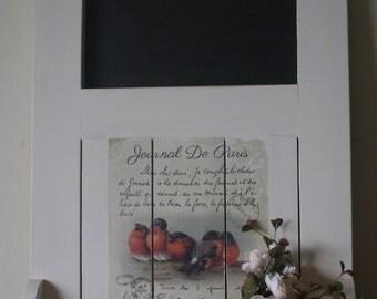 Handmade French Country shelf with blackboard