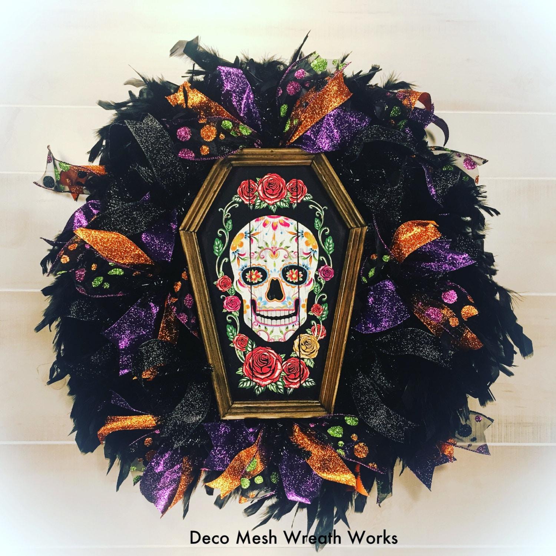 Day of the Dead Wreath Dia de los Muertos Wreath Halloween