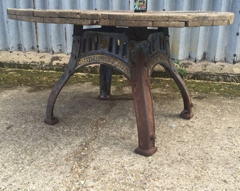 Industrial Up-cycled dinning / garden table.