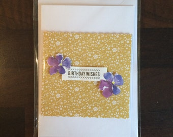 Handmade Birthday Wishes Card
