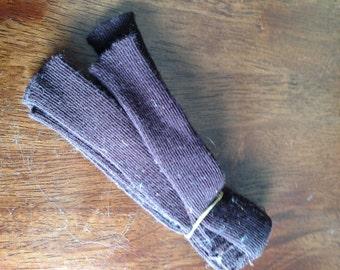 Lot 3 Dark Brown Doll Socks Leggins  Antique.  NOS.  Free Shipping too